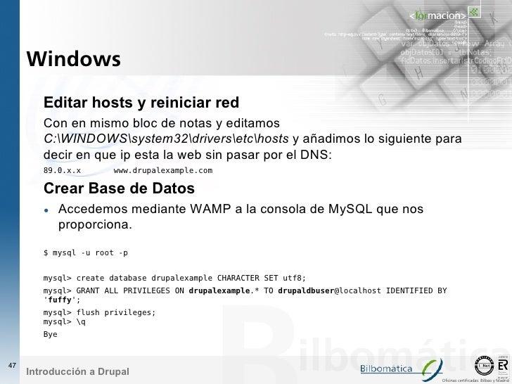Windows         Editar hosts y reiniciar red         Con en mismo bloc de notas y editamos         C:WINDOWSsystem32driver...