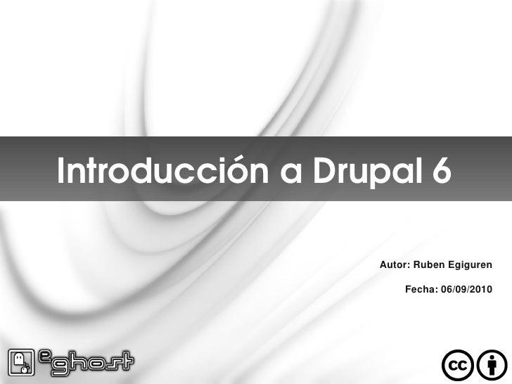 Introduccion a Drupal 6 e-ghost