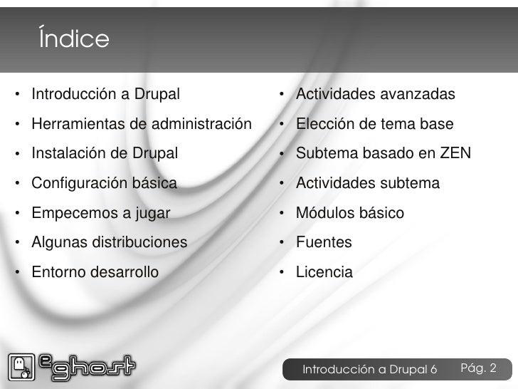 Introduccion a Drupal 6 e-ghost Slide 2
