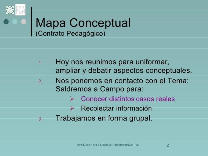 Mapa Conceptual    (Contrato Pedagógico) <ul><li>Hoy nos reunimos para uniformar, ampliar y debatir aspectos conceptuales....