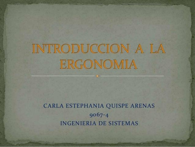 CARLA ESTEPHANIA QUISPE ARENAS 9067-4 INGENIERIA DE SISTEMAS