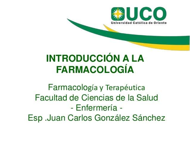 Introduccion a la farmacologia jc gonzalez - version redes