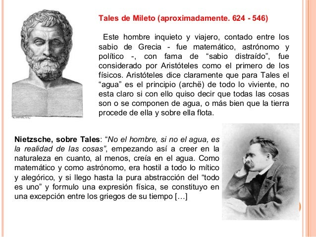 Tales de Mileto (aproximadamente. 624 - 546) Este hombre inquieto y viajero, contado entre los sabio de Grecia - fue matem...