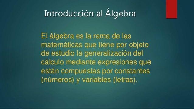 Introduccion al algebra Slide 2