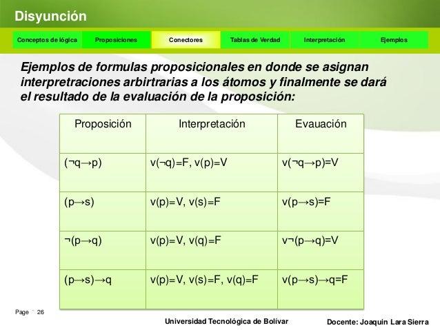 BicondicionalConceptos de lógica   Proposiciones    Conectores      Tablas de Verdad    Interpretación       Ejemplos El c...