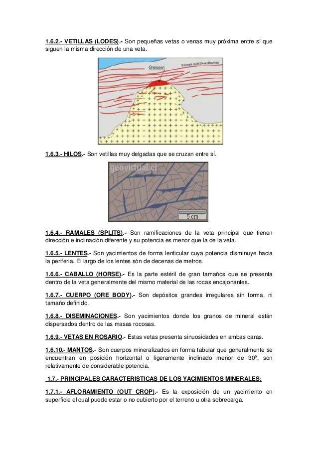 Introduccion a la mineria for Veta artistica definicion