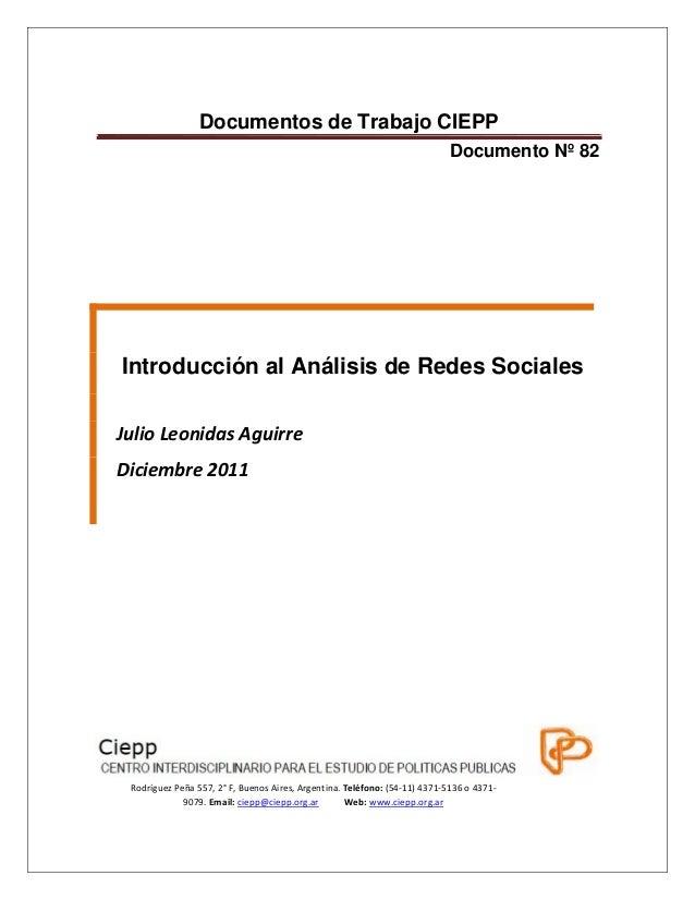 Documentos de Trabajo CIEPP  Documento Nº 82  Introducción al Análisis de...