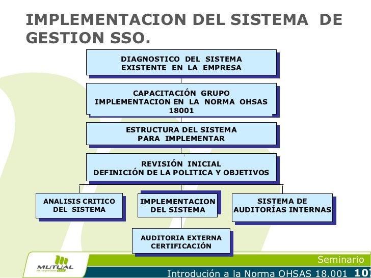 IMPLEMENTACION DEL SISTEMA DEGESTION SSO.                    DIAGNOSTICO DEL SISTEMA                    EXISTENTE EN LA EM...