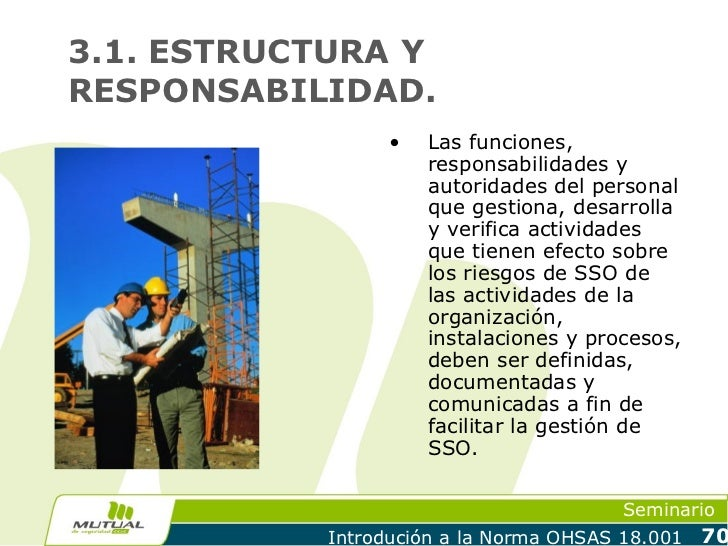 3.1. ESTRUCTURA YRESPONSABILIDAD.                 •   Las funciones,                     responsabilidades y              ...