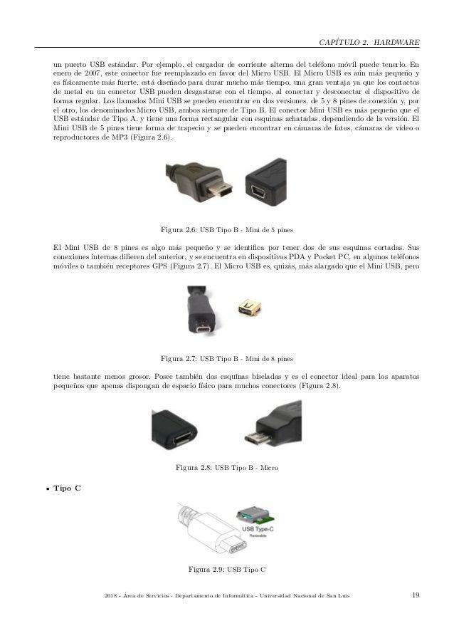 CAP´ITULO 2. HARDWARE un puerto USB est´andar. Por ejemplo, el cargador de corriente alterna del tel´efono m´ovil puede te...