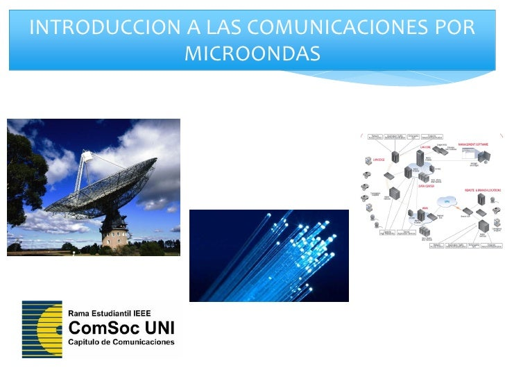 INTRODUCCION A LAS COMUNICACIONES POR            MICROONDAS