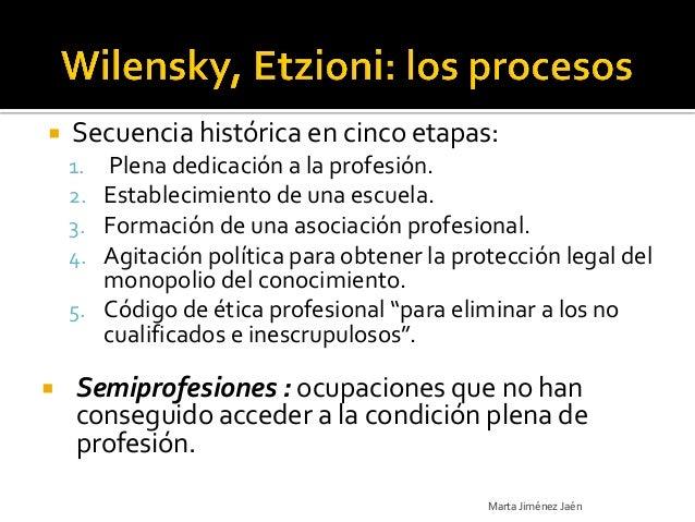    Secuencia histórica en cinco etapas:    1. Plena dedicación a la profesión.    2. Establecimiento de una escuela.    3...