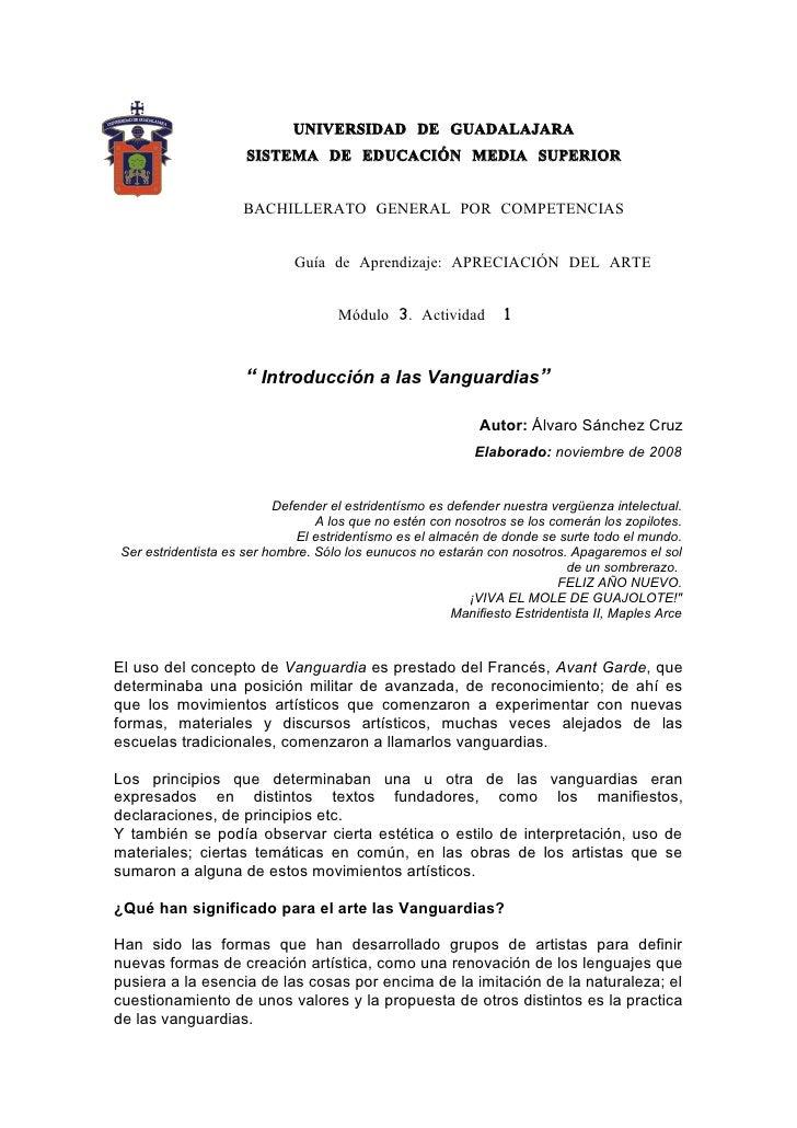 UNIVERSIDAD DE GUADALAJARA                      SISTEMA DE EDUCACIÓN MEDIA SUPERIOR                        BACHILLERATO GE...