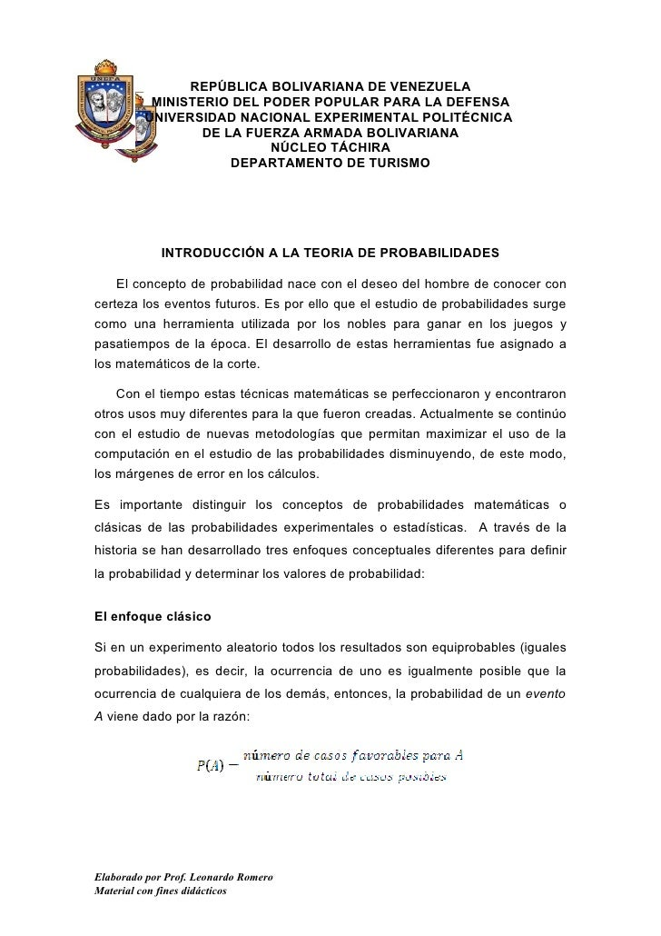 REPÚBLICA BOLIVARIANA DE VENEZUELA           MINISTERIO DEL PODER POPULAR PARA LA DEFENSA          UNIVERSIDAD NACIONAL EX...