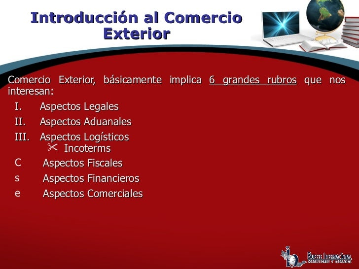Introduccion al comercio exterior for Comercio exteriro