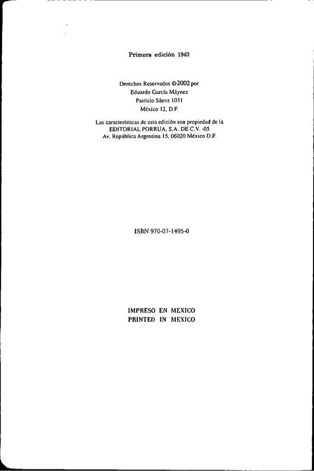 Introduccion al estudio del derecho - Eduardo Garcia Maynez Slide 3