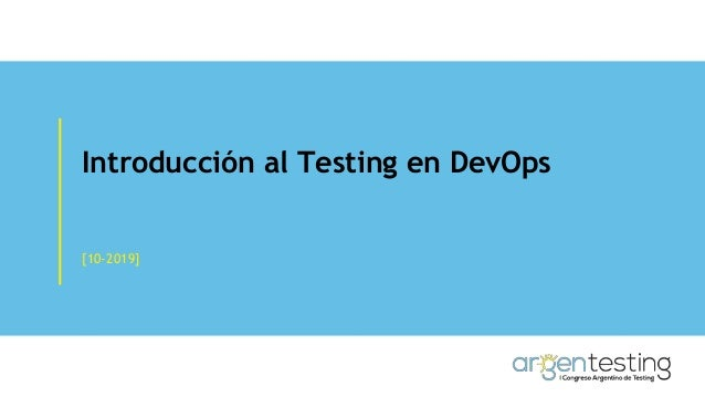 Introducci�n al Testing en DevOps [10-2019]