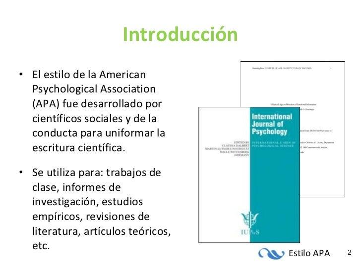 Introduccion APA (6ta edición) Slide 2