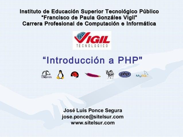 """Instituto de Educación Superior Tecnológico PúblicoInstituto de Educación Superior Tecnológico Público""""Francisco de Paula ..."""