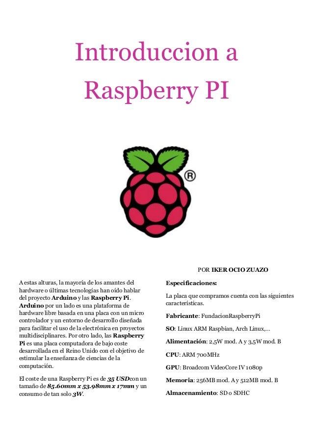 Introduccion a                          Raspberry PI                                                                   POR...