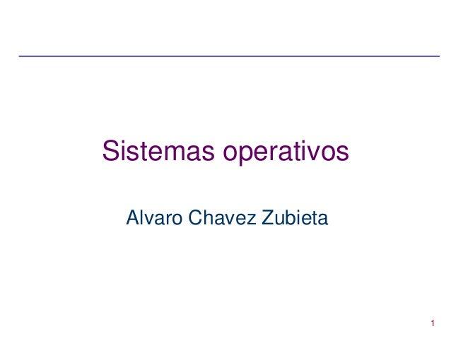 1 Sistemas operativos Alvaro Chavez Zubieta