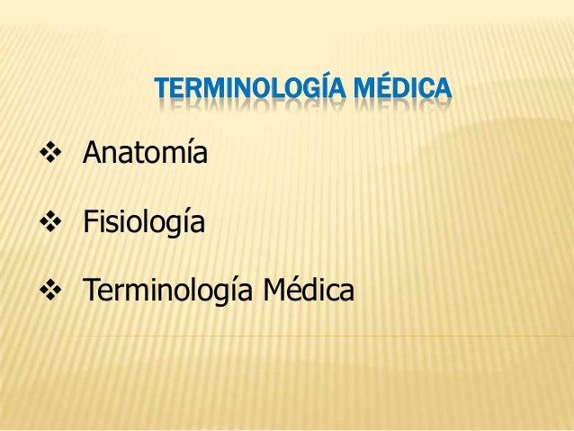 Introduccion a terminologia medica