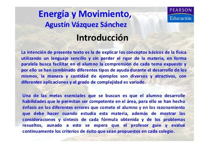 FísicaI,AVS        EnergíayMovimiento,           AgustínVázquezSánchez           Agustín Vázquez Sánchez            ...