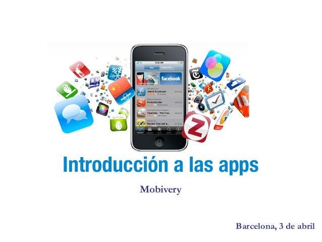 Introducción a las apps         Mobivery                    Barcelona, 3 de abril