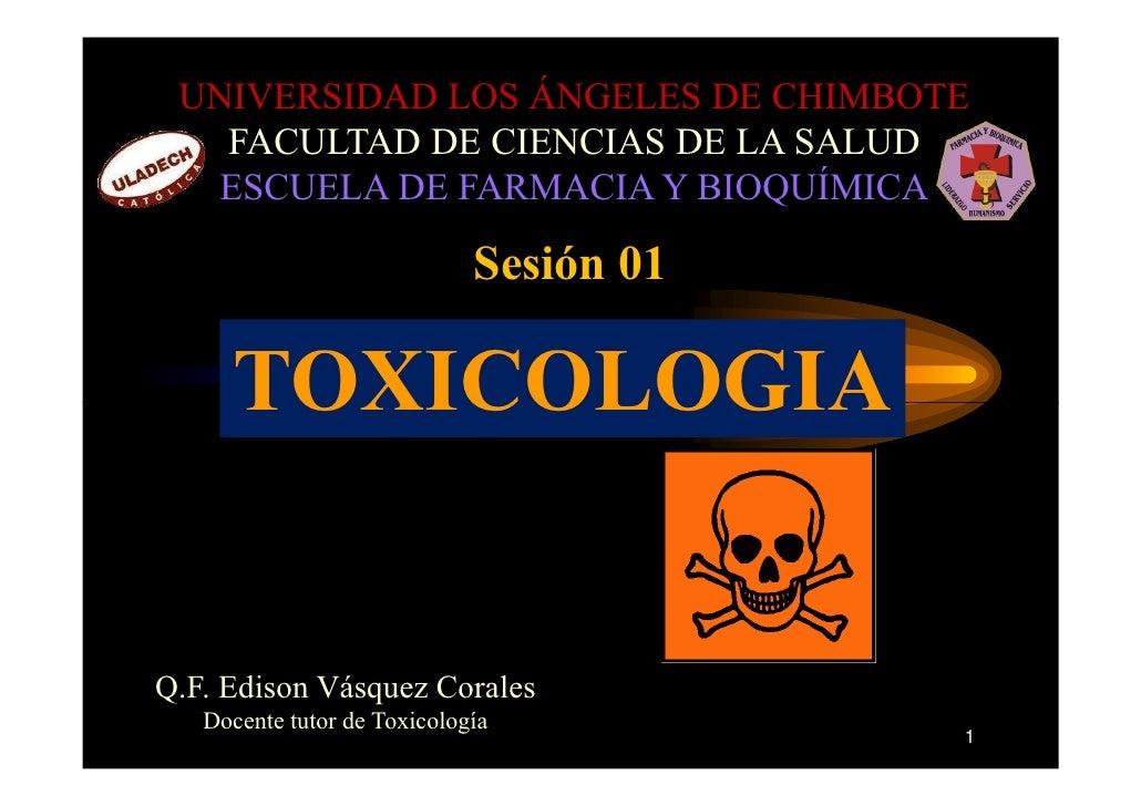 UNIVERSIDAD LOS ÁNGELES DE CHIMBOTE    FACULTAD DE CIENCIAS DE LA SALUD    ESCUELA DE FARMACIA Y BIOQUÍMICA               ...