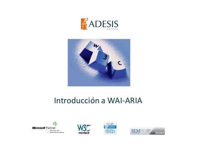 Introducción a WAI-ARIA