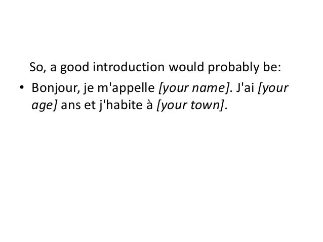 french essay about yourself Writing about family in french: teacher section teacher: some students aren't comfortable talking about their families, so i tell them it's ok to make it up.