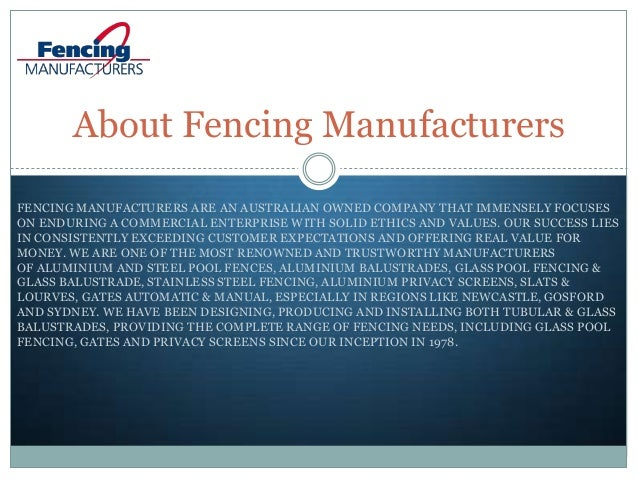 Introduction of Fencing Manufacturers Slide 3