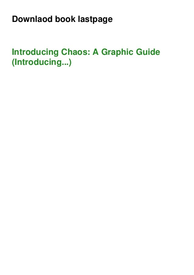 Downlaod book lastpage Introducing Chaos: A Graphic Guide (Introducing...)