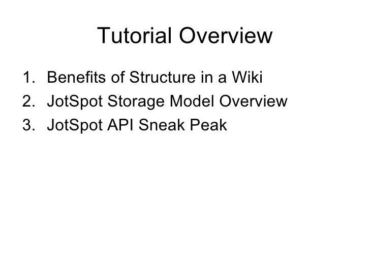 Introducing the JotSpot Data Model and API Slide 2