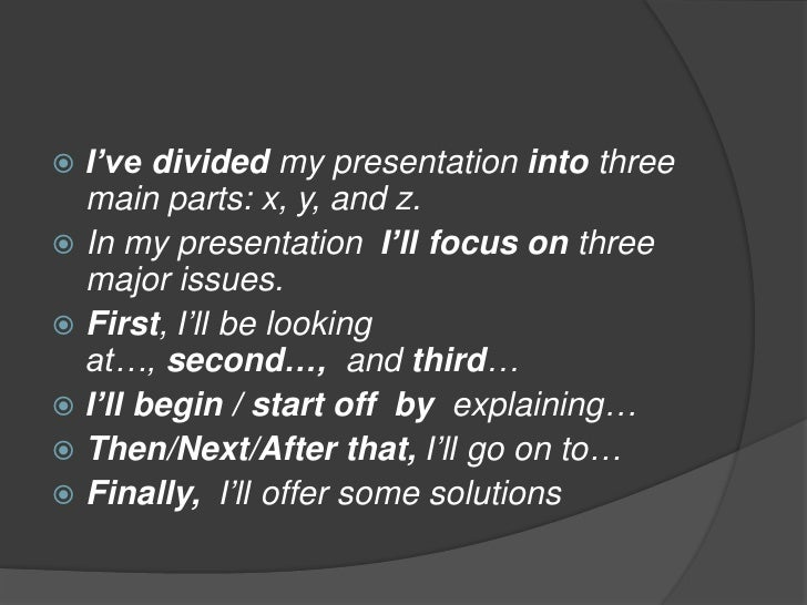 in a presentation