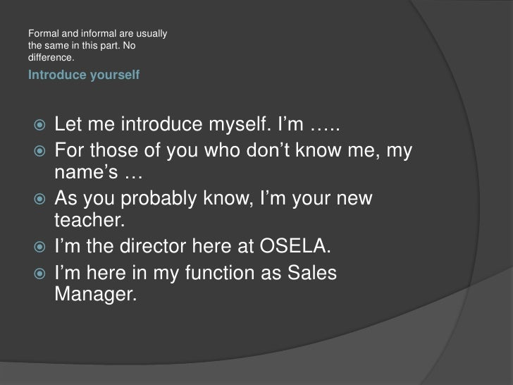 Introduce Myself In Presentation