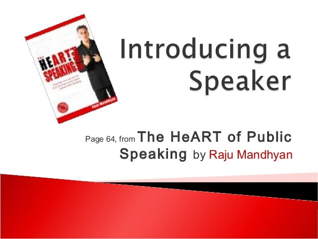Page 64, from The HeART of PublicSpeaking by Raju Mandhyan