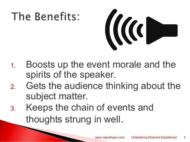 Introducing a speaker Slide 2