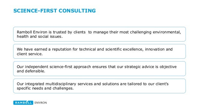 Introducing global enviromental and health sciences consulting firm R…