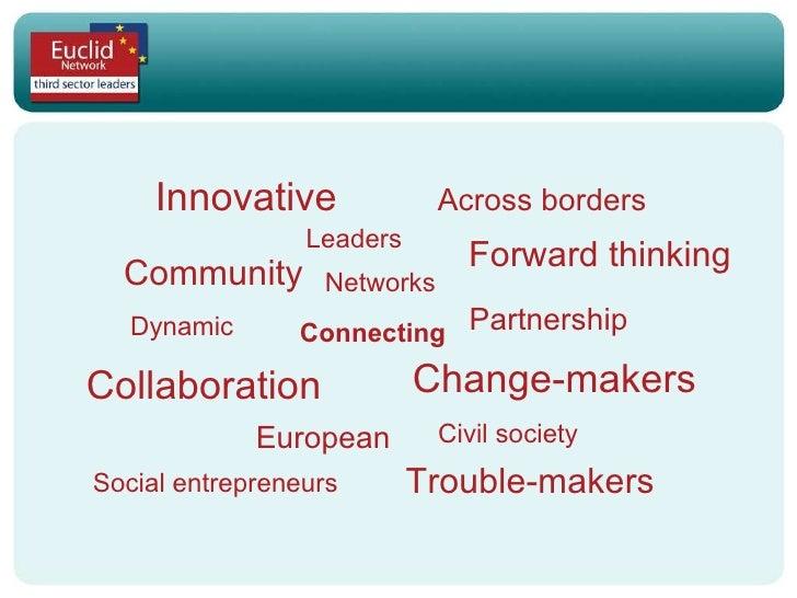 Innovative Networks Leaders Across borders Connecting Collaboration Partnership Civil society European Social entrepreneur...