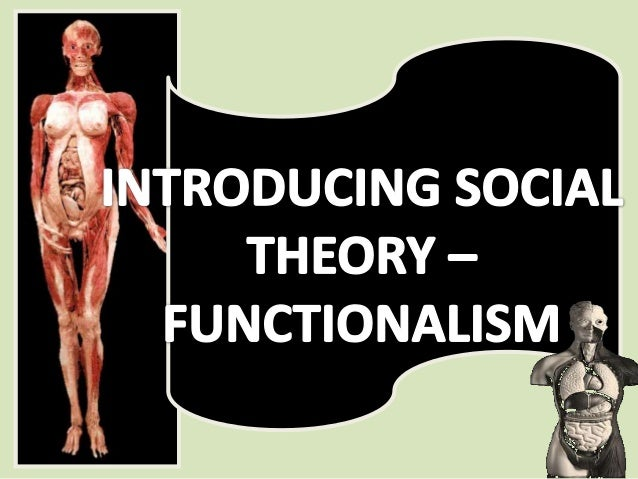 The aim of this session is to:Provide you with a briefintroduction to social theory,Namely the FunctionalistPerspective of...