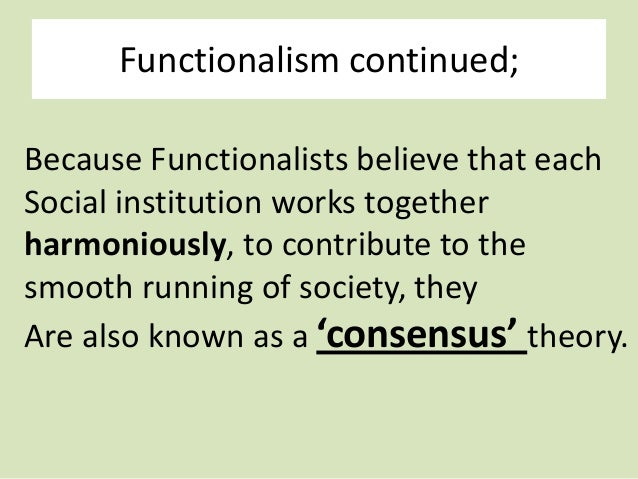 an introduction to the sociological theory of functionalism Making sense of abstract theories sociological divorce might be studied from the functionalism theory to introduction to sociology: 4 basic theories.