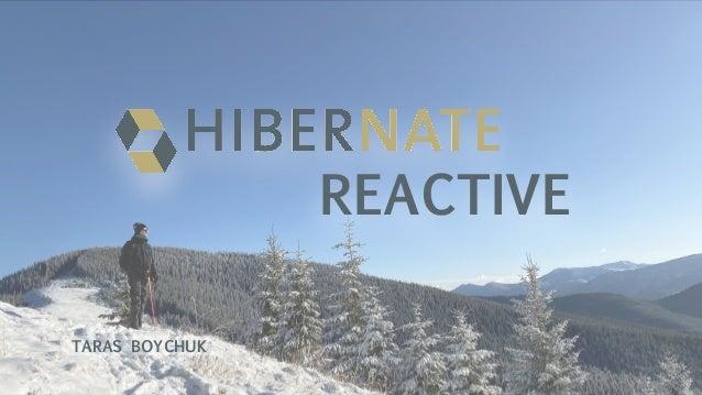 Introducing Hibernate Reactive – the First Reactive ORM Framework
