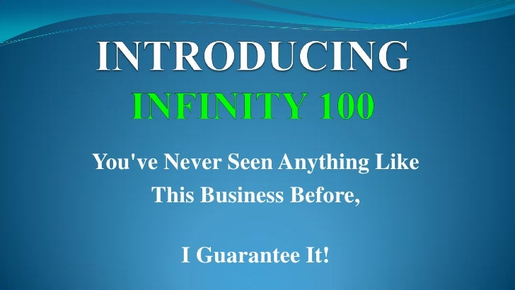 You've Never Seen Anything Like      This Business Before,          I Guarantee It!