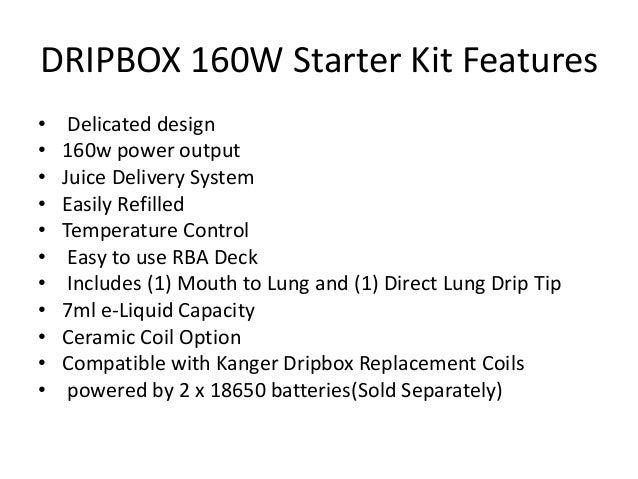 Introducing Kanger Dripbox 160 W Starter Kit