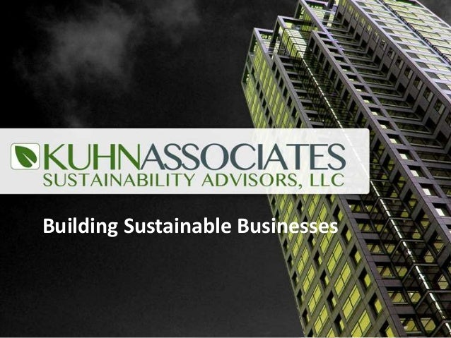 Building Sustainable Businesses