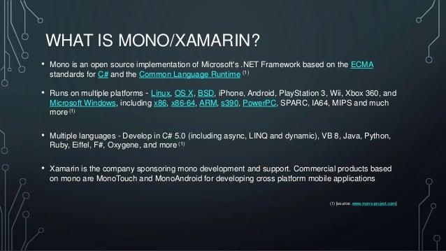 introducing mono  u0026 xamarin