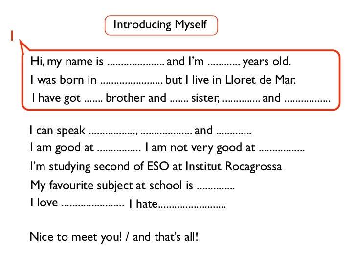 Introducing Myself