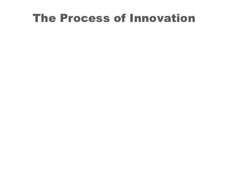 The Process of Innovation<br />