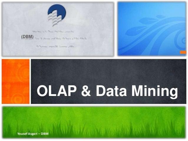 Yousef Asgari – DBM OLAP & Data Mining (DBM)